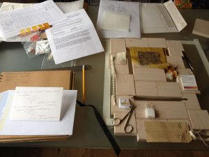 Planning stage of Textile Conservation commission by Ali Ferguson