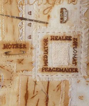 Ali Ferguson Textile Workshop Rusted Sampler