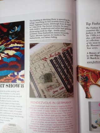 Embroidery magazine page
