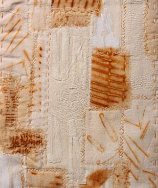 Sketchbook rusted patchwork piece - Ali Ferguson