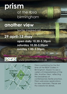 Prism Textiles exhibition flyer