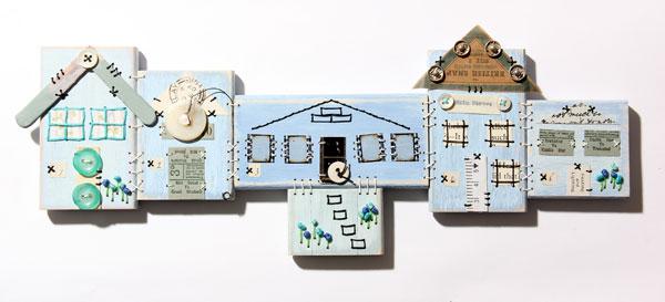 Patchwood Alleys workshop piece by Ali Ferguson