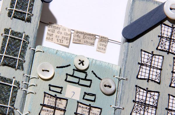 Patchwood Tenements workshop piece by Ali Ferguson