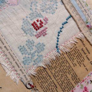 Textile collage by Ali Ferguson
