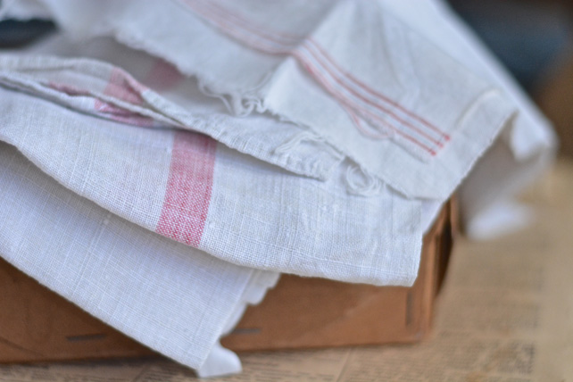 Old French table linens