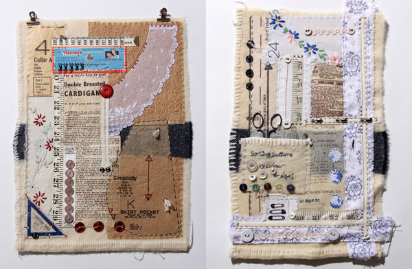 Scrappy Textile Collages by Ali Ferguson